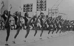 The Drill Team: A decades' old tradition of showcasing women's private parts for entertaining.